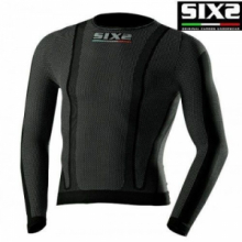 Sixs TS 2 T-Shirt manica lunga carbon underwea  BLACK